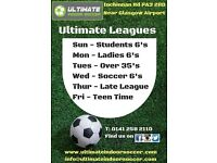 Over 35's League starting - Tuesday nights near Glasgow Airport