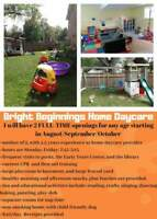 Bright Beginnings Home Daycare-1 spot left-any age