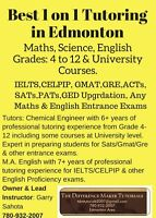 English(IELTS/CELPIP),Maths,Science:1on1 Tutor:Best rates in Edm