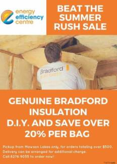 Genuine Bradford 4.1 Ceiling Batts 20% off RRP