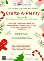 Christmas Craft Shown and Market  Vendor spots still available