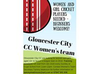 Gloucester City Women & Girls Cricket Team - Beginners welcome