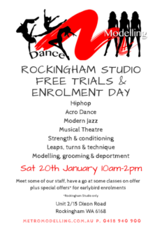 Modelling & Dance  Classes Free Trial & Open Day
