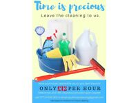CLEANING SERVICES - ONLY £12 P/H