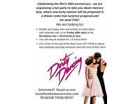Help someone have the time of their lives! Be an extra at a Dirty Dancing themed wedding proposal