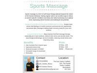 Sports / Deep Tissue Massage - A healthier, happier you.