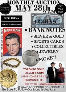 Paul&Bogarts Coin Diamond Gold Silver Auction May28 Bid Online