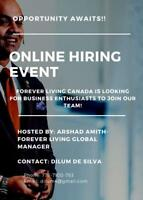 Forever Living Canada looking for business partners.