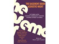 October 28th Acoustic night featuring young artists from The Basement Door Youth Cafe.