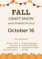 Fall Craft and Marketplace, ELORA- Vendor space available