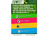 WE ARE OFFERING GARDENING SERVICES TREE SURGEON,RUBBISH REMOVAL AND MAN AND VAN SERVICES
