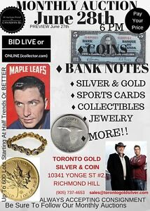 MASSIVE COIN AUCTION - NOW - ONLINE @ ICOLLECTOR.COM- June 28th