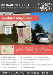 Basement Room Available May 1 |CLOSE TO FANSHAWE | ALL INCLUSIVE