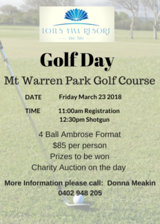 Golf Anyone? March 23 - Lotus Vana Charity Golf Day