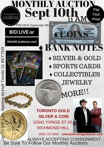 GOLD SILVER & BANKNOTES AUCTION