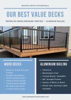 Best Value Decks  Call 780 737 9008 Deck Contractors