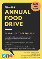 Gleaners Annual City-Wide Food Drive