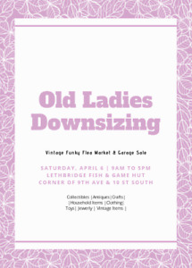 Old Ladies Downsizing - Vintage Flea Market and Garage Sale