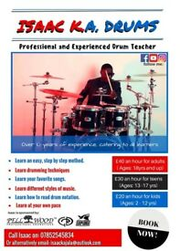 AFFORDABLE DRUM LESSONS... with Isaac k Ajala (Lesson prices are negotiable).