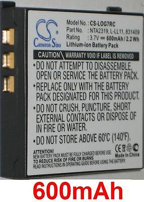 Battery 600mah For Logitech G7 Laser Cordless Mouse, Mx Air, 190310-1000