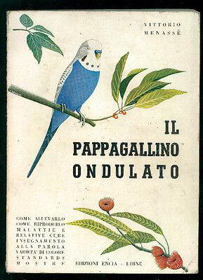 MENASSE' VITTORIO IL PAPPAGALLINO ONDULATO ENCIA 1965 I° EDIZ. ORNITOLOGIA