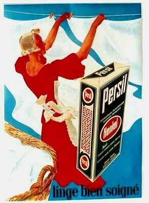 Original vintage poster PERSIL RED LADY WHITE LAUNDRY 1939