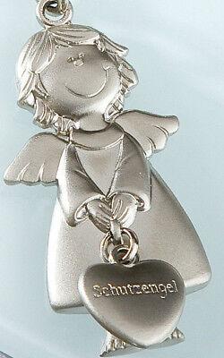 Gilde Schlüsselanhänger Schutzengel mit Herz Metall silber matt ca.11 cm 50992 ♥