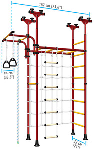 LIMIKIDS - Indoor Home Gym for Kids - Model SpiderWall
