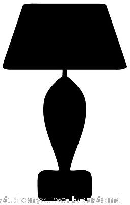 LAMP #1 SILHOUETTE DECAL STICKER CUSTOM LIVING ROOM KITCHEN LIGHTS CHANDELIER](Chandelier Silhouette)