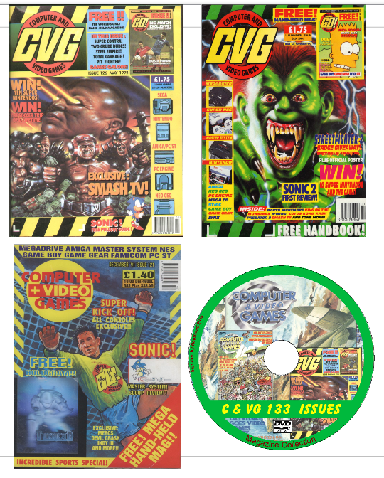 retro computer games - CVG Computer & Video Games 133 PDF Issues DVD Retro Gaming Magazine on 2 DVDs
