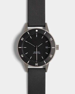 Instrmnt D-Series Watch - Black Bezel, Black Rubber Strap