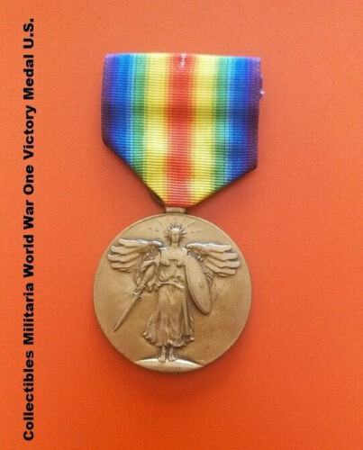 Collectibles Militaria World War One Victory Medal U.S.