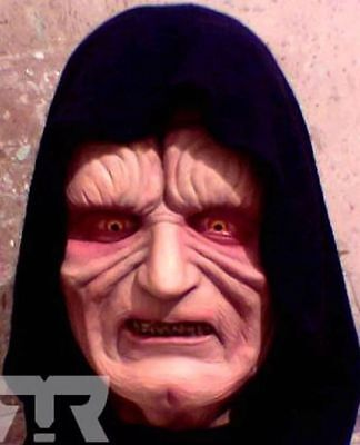 EMPEROR PALPATINE LATEX MASK -- Star Wars Darth Sidious Costume Prop Cosplay SW](Emperor Palpatine Costumes)