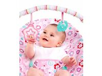 Bright Starts Baby Girl Vibrating Bouncer Rocker Swing BRAND NEW BOXED SEALED