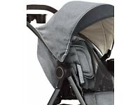 Buggy & Car Seat only used for 5 months- Graco Fast Action Fold DLX Travel System - Dove Grey