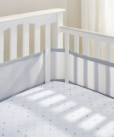 Breathable 4 sided mesh cot liner / bumper