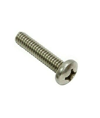 6-32 Machine Screw Pan Head Phillips Drive Stainless X Various Sizes And Qty