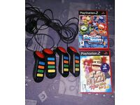 PS2 Buzz game set and buzz's