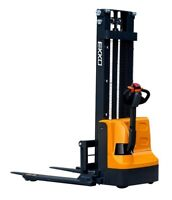 """Fully Electric Straddle Stacker, 119""""  lift     2640 lbs cap."""