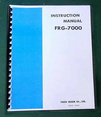 Yaesu FRG-7000 Instruction Manual -  Premium Card Stock Covers & 28 LB Paper! for sale  Lacey