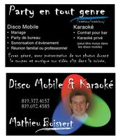 Mathieu Boisvert Disco Mobile, Karaoké, Mariage, Animation, DJ