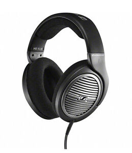 New Sennheiser HD518 Over-The-Ear Audio Stereo Bass Portable DJ Headphones -East
