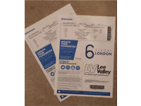2 x Six Day Tickets - Track Cycling London - Thu 26 Oct 17:30 £50 total