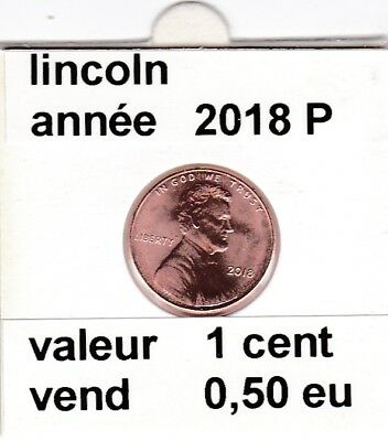 e2 )pieces de 1 cent lincoln   2018 P