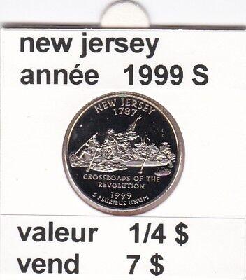 e 3)pieces de 25 cent  new jersey   1999  S