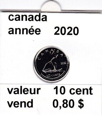 C 1 )pieces de  10 cent canada 2020