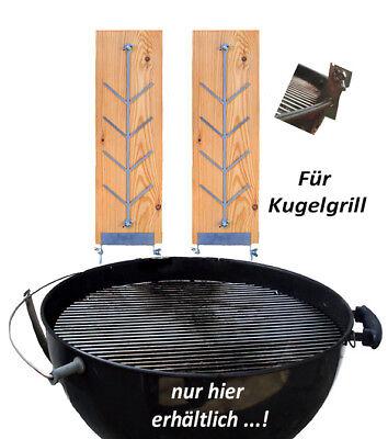 Flammlachsbrett / Räucherbrett L für Holzkohle *** Kugelgrill / Rundgrill ***