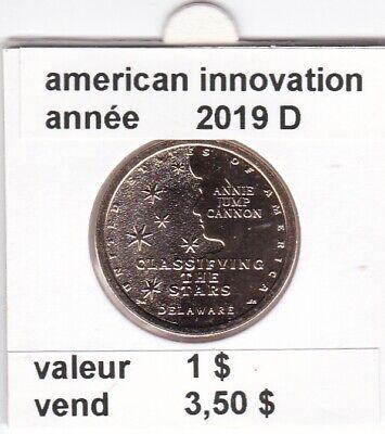 e 3 )pieces de 1 dollar de 2019 D premier de une serie 4