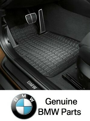 For BMW E84 X1 xDrive28i xDrive35i Front All Weather Rubber Floor Mats Genuine