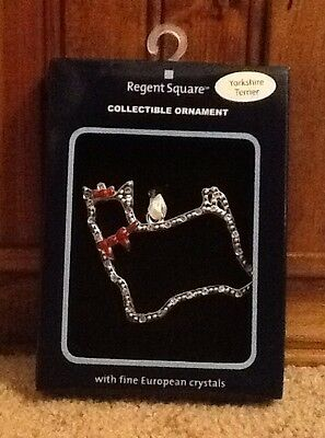 Regent Square Yorkshire Terrier Christmas Ornament With Crystals ()